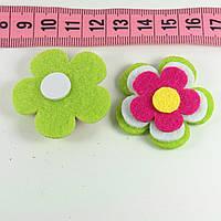 Декор фетр цветок 3