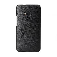 Кожаный чехол накладка Melkco для HTC One M7 Black, фото 1