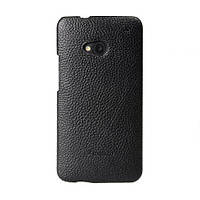 Кожаный чехол накладка Melkco для HTC One M7 Black
