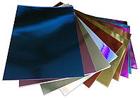 Картон металлизированный А4/200г (10 цветов) для детского творчества