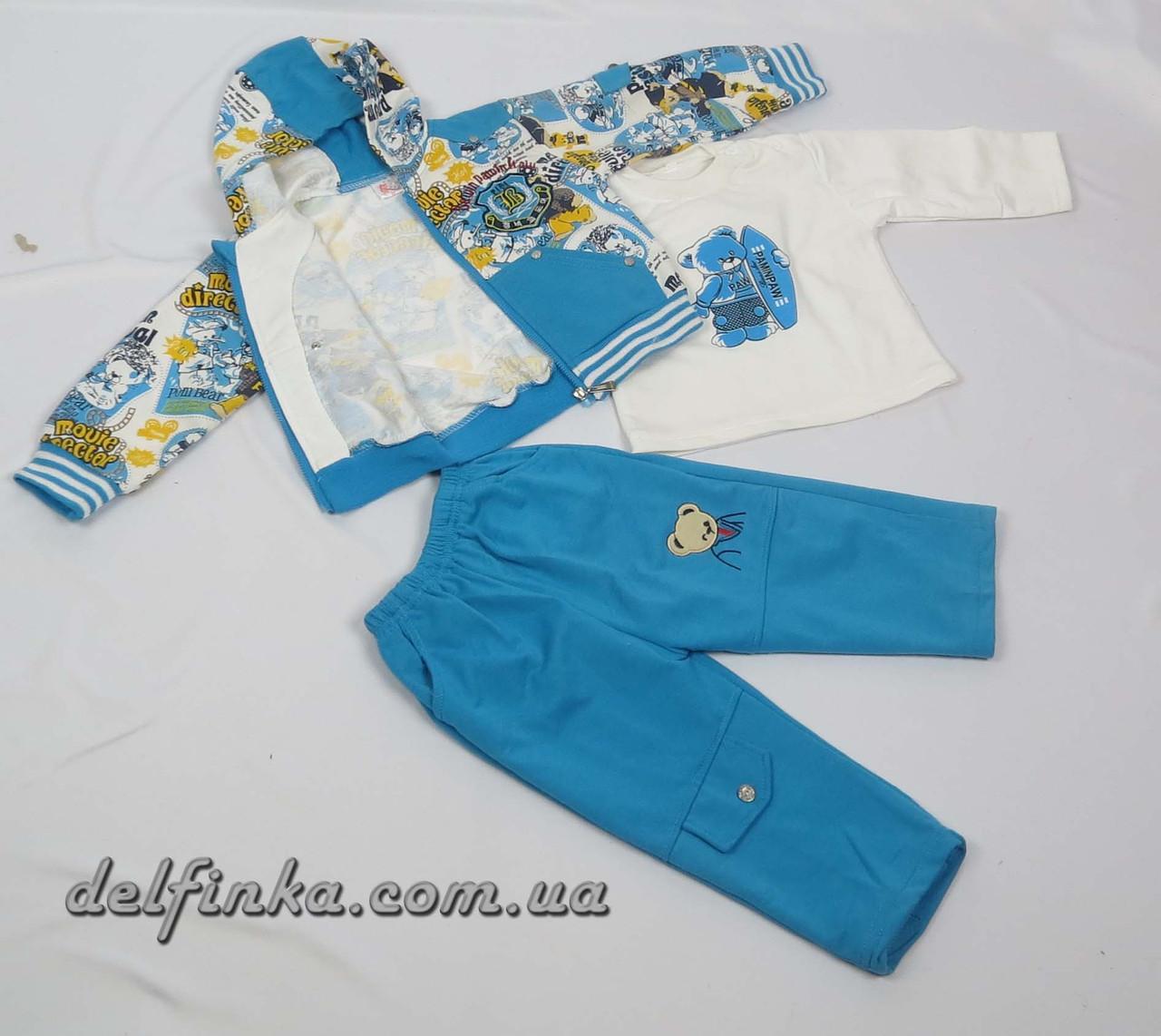 Костюм для мальчика с 1 года до 3 лет, цвет:голубой, фото 2