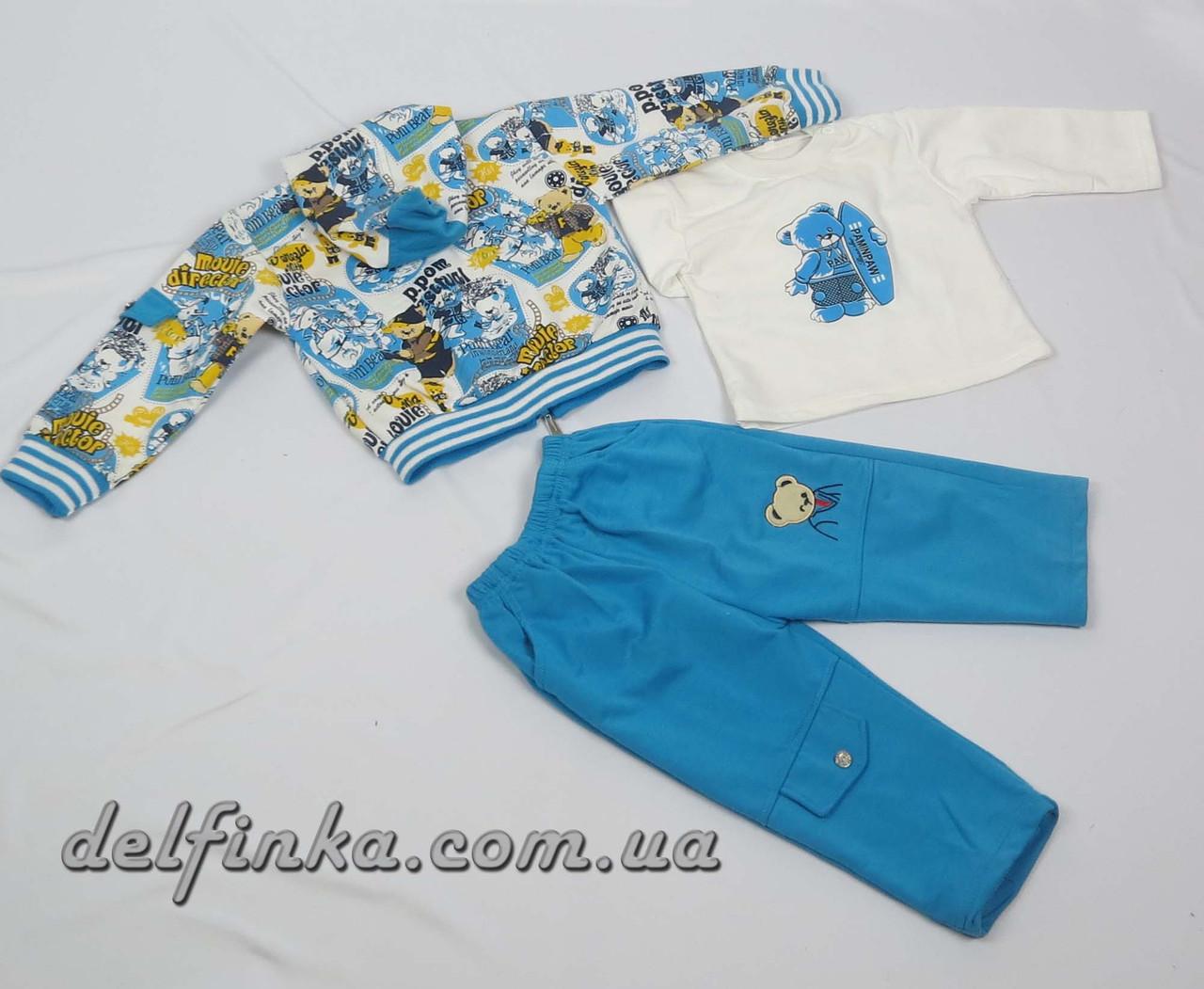 Костюм для мальчика с 1 года до 3 лет, цвет:голубой, фото 3