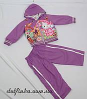 Костюм для девочки с 1 года до 3 лет, цвет: фиолетовый