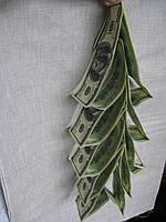 Подвеска Елка из сувенирных долларов, бумажная, подвесная, высота 33 см