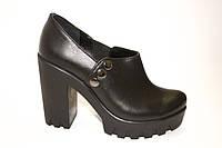 Кожаные туфли на тракторном каблуке,, фото 1