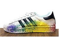 Кроссовки мужские Adidas Superstar Supercolor (в стиле адидас)  белые 41