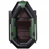 Хорошая лодка для рыбалки AquaStar B-210 FFD зеленая