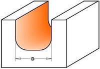 Фреза CMT для гравировки профильная D19-l16-R6,4-L54-d8