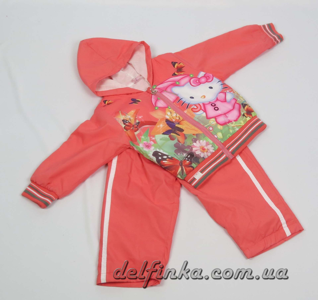 Костюм для девочки с 1 года до 3 лет, цвет: кораловый, фото 1