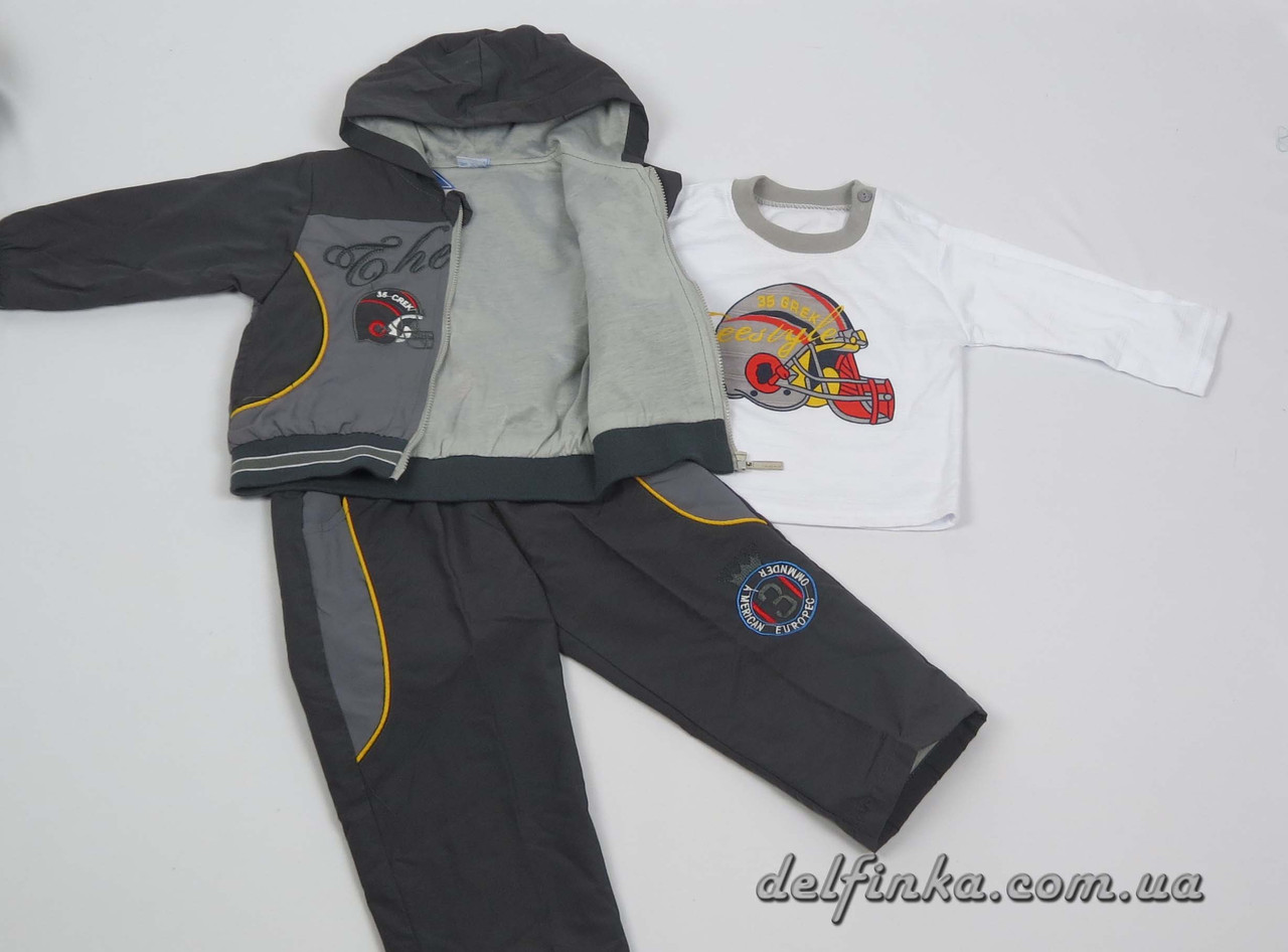 Костюм для мальчика с 1 года до 3 лет, цвет: серый, фото 2