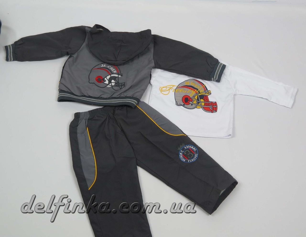 Костюм для мальчика с 1 года до 3 лет, цвет: серый, фото 3