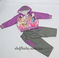 Костюм для девочки с 1 года до 3 лет, цвет:фиолетовый, фото 1