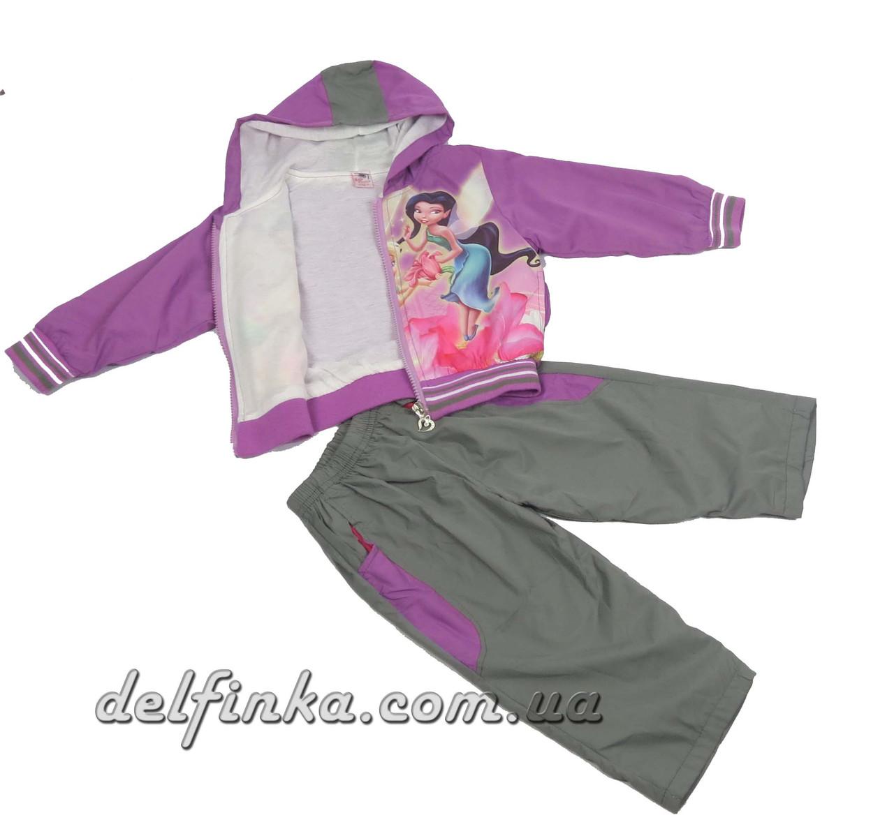 Костюм для девочки с 1 года до 3 лет, цвет:фиолетовый, фото 2