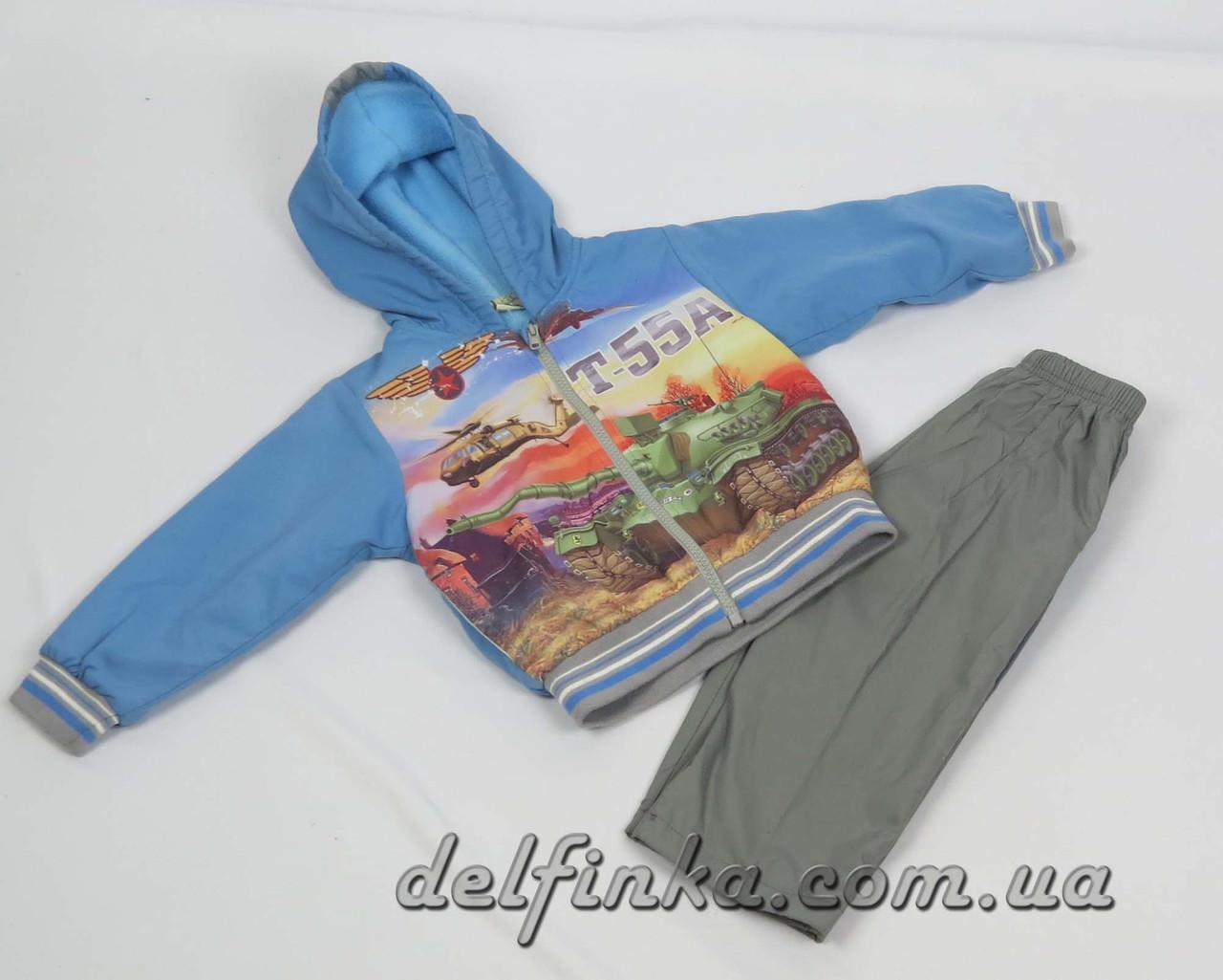 Костюм на флисе для мальчика с 1 года до 3 лет, цвет: синий, фото 1