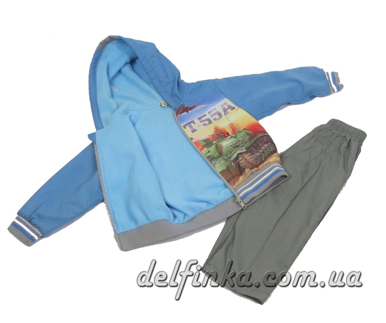 Костюм на флисе для мальчика с 1 года до 3 лет, цвет: синий, фото 2