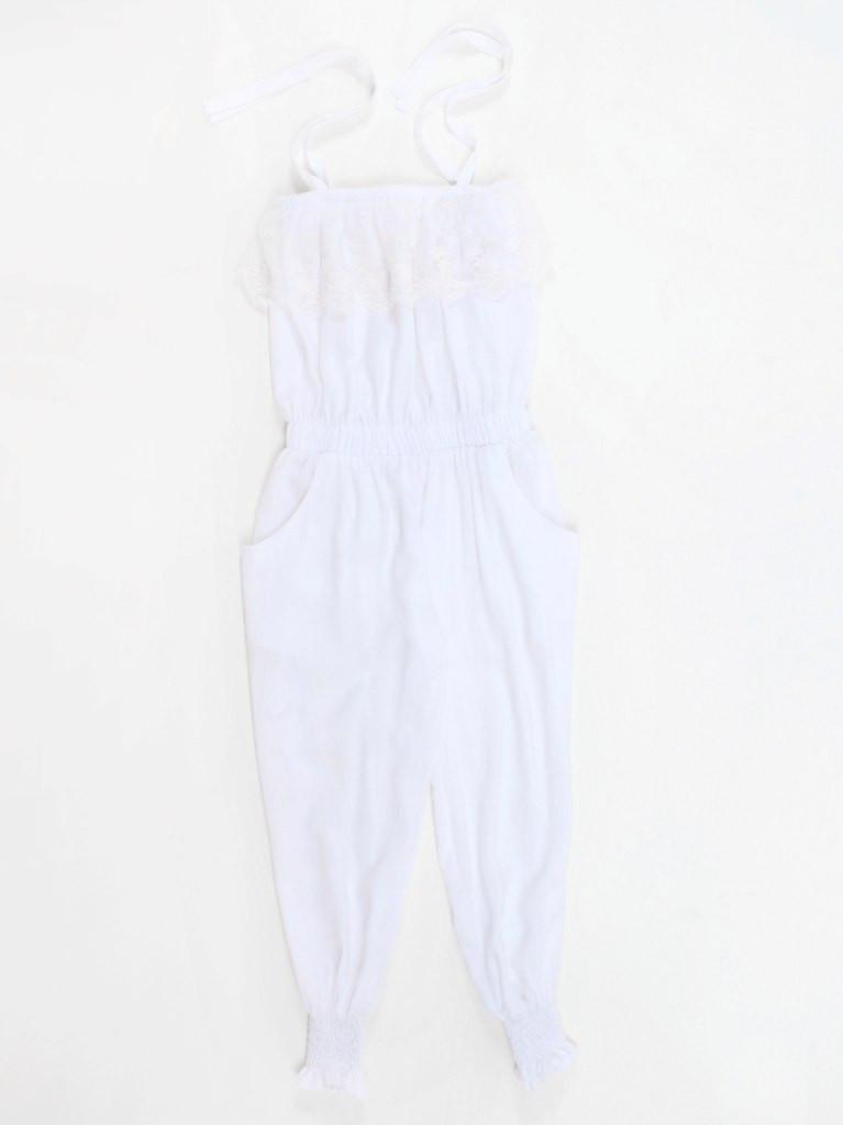 Комбинезон ( белый) для девочки р-ры 128-152