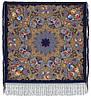 """Многоцветная шаль из уплотненной шерстяной ткани с шелковой бахромой """" Радоница """" рис 920-14"""