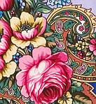"""Многоцветная шаль из уплотненной шерстяной ткани с шелковой бахромой """" Воспоминание о лете """" рис 563-14, фото 3"""