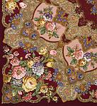 """Многоцветная шаль из уплотненной шерстяной ткани с шелковой бахромой """" Радоница """" рис 920-7, фото 2"""