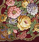 """Многоцветная шаль из уплотненной шерстяной ткани с шелковой бахромой """" Радоница """" рис 920-7, фото 3"""