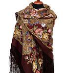 """Многоцветная шаль из уплотненной шерстяной ткани с шелковой бахромой """" Радоница """" рис 920-7, фото 5"""