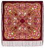 """Многоцветная шаль из уплотненной шерстяной ткани с шелковой бахромой """" Ненаглядная """" рис 1025-7"""