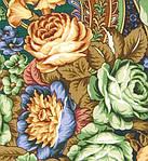 """Многоцветная шаль из уплотненной шерстяной ткани с шелковой бахромой """" Ненаглядная """" рис 1025-18, фото 3"""