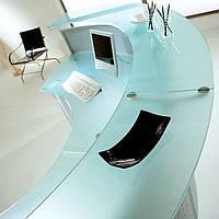 Ресепшен стеклянный офисный