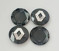 Заглушки колпачки литых дисков Renault 57mm чёрные