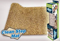 Коврик придверный с нескользящим основанием Clean Step Mat