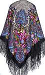 """Многоцветная шаль из уплотненной шерстяной ткани с шелковой бахромой """"Старый замок  """" рис 947-14, фото 2"""