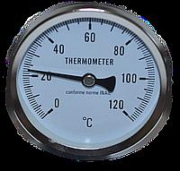 Термометр механический натрубный с пружиной.