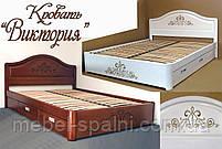 """Кровать двуспальная деревянная с ящиками """"Виктория"""" kr.vt6.1"""