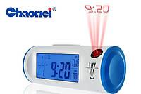 Цифровые часы с ЖК-дисплеем, подсветкой и проекцией времени, CHAOWEI® Digital LCD Dual Projection