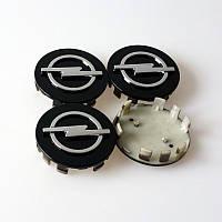 Заглушки колпачки литых дисков Opel чёрные 59mm