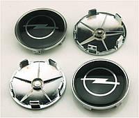 Заглушки колпачки литых дисков Opel чёрные 68мм