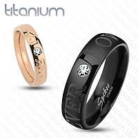 Роскошное обручальное кольцо для влюбленной пары Love Forever