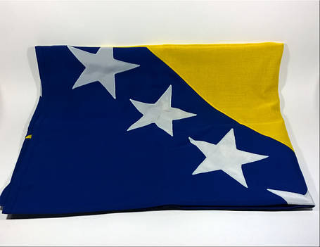 Флаг Боснии и Герцеговины (Аппликация) - (1м*1.5м), фото 2