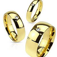 Обручальное кольцо с фианитом Unisex