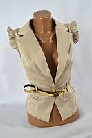 Пиджак безрукавка LV-404 только белый, фото 1