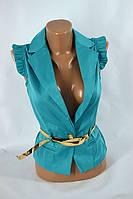 Пиджак безрукавка LV-404 (голубой), фото 1