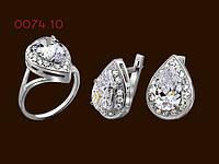 Комплект из серебра  Капля, фото 1