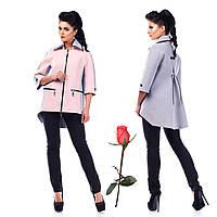 Женское демисезонное полупальто  Ф 77932 - Розовый-сирень