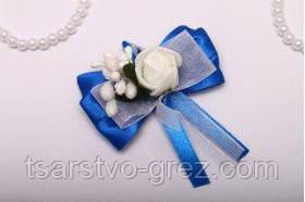 Бутоньерка Flowers blue