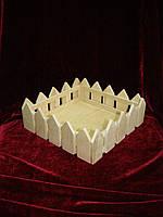 Короб (20 х 20 х 7 см), декор