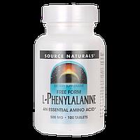 L-Фенилаланин, Свободная Форма 500 мг 100 таблеток (для настроения и нервов)