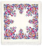 """Платок шерстяной с просновками и шелковой бахромой """"Весеннее цветение"""", фото 3"""