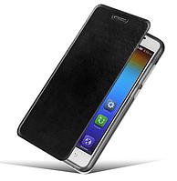 Черный кожаный чехол-книжечка-подставка MOFI для Lenovo S850