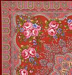 """Платок шерстяной с шелковой бахромой """"Таинственная муза"""", 146x146 см, фото 2"""