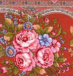 """Платок шерстяной с шелковой бахромой """"Таинственная муза"""", 146x146 см, фото 3"""